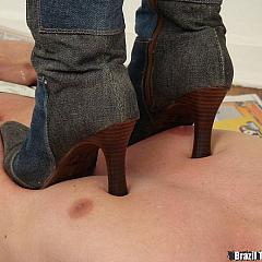 Foot tramples.