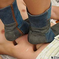 Foot trampling.